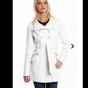Guess Poppy wool white coat